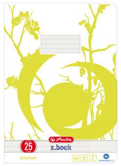 herlitz Cahier x.book, A4, recyclé, linéature 26 / quadrillé