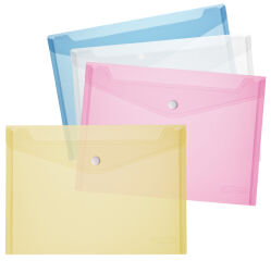 herlitz Pochette pour documents, A5, PP, bleu / transparent
