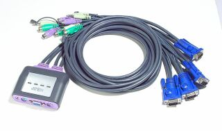Cable Switch KVM PS/2, 4 compartiments