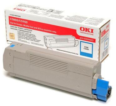 OKI Toner pour OKI C5800/C5800N/C5900/C5900N, cyan