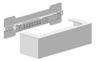 Barre compensation potentiel, recouvert, système d'armoire