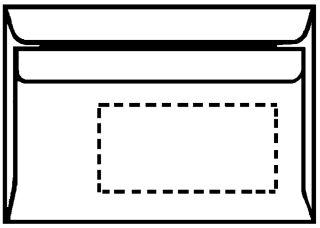 herlitz envellope format long, sans fenêtre, blanc