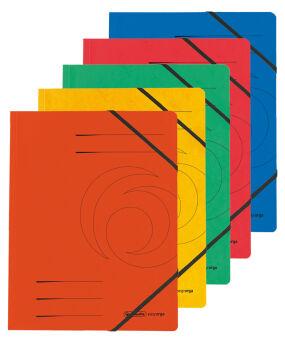 herlitz Chemise easyorga, A4, carton Colorspan, bleu
