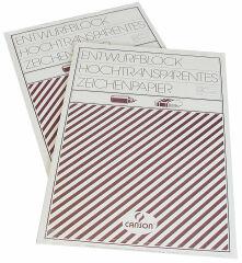 CANSON bloc de calque, A3, transparent, 80/85 g/m2