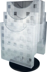 helit Porte-brochures de table 'the turn grid', transparent