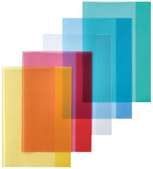 herlitz Protège-cahier format A4, en PP, rouge transparent