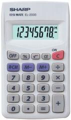 SHARP Calculatrice modèle EL 233S, alimentation par batterie