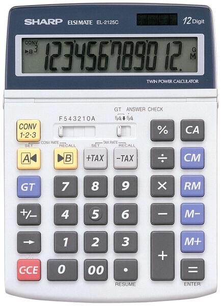 sharp calculatrice de bureau el 2125c alimentation solaire achat vente sharp 5215427. Black Bedroom Furniture Sets. Home Design Ideas