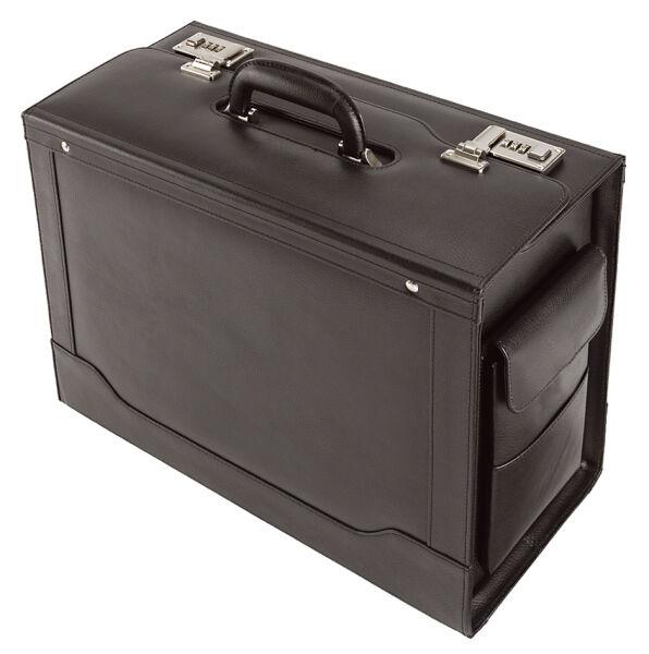 alassio valise pour pilotes 39 ancona 39 cuir noir achat vente alassio 5317365. Black Bedroom Furniture Sets. Home Design Ideas