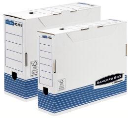 Fellowes BANKERS BOX SYSTEM boîte d'archives, (L)80 mm, bleu