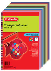 herlitz Papier transparent, 200 x 300 mm, 10 feuilles