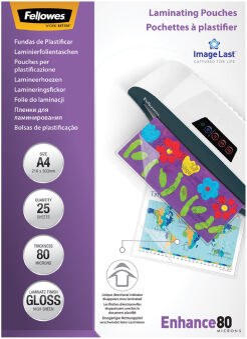 Pochettes de plastification A4 80 microns (x100)