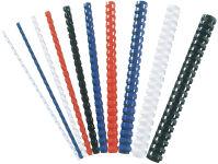 Fellowes baguettes de reliure plastiques, rondes, 14mm, noir