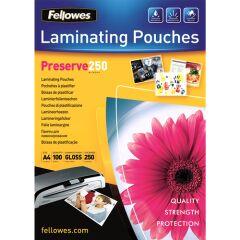 Pochettes de plastification A4 250 microns (x100)