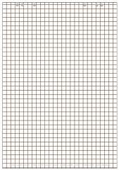 Bloc paperboard, 20 feuilles, à carreaux/en blanc - LANDRÉ