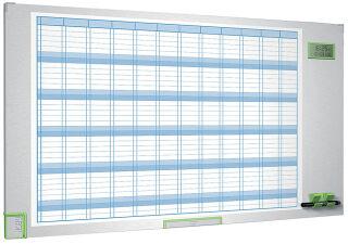 Tableau Planning 12 mois Magnétique Performance Plus - Nobo
