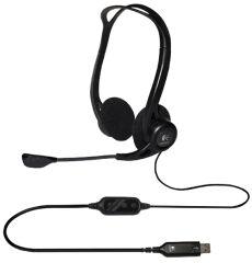 Logitech PC Headset 960 USB, noir, port USB
