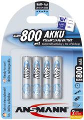 ANSMANN Pile rechargeable NiMH maxE, Micro (AAA), 800 mAh