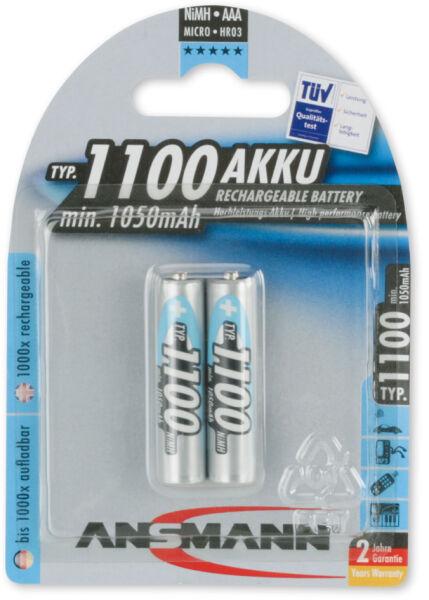 Ansmann accu nimh premium micro aaa 1100mah blister de for Buro premium