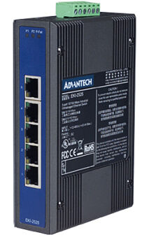 ADVANTECH Fast Ethernet Industrial Switch, 5 x RJ45 ports