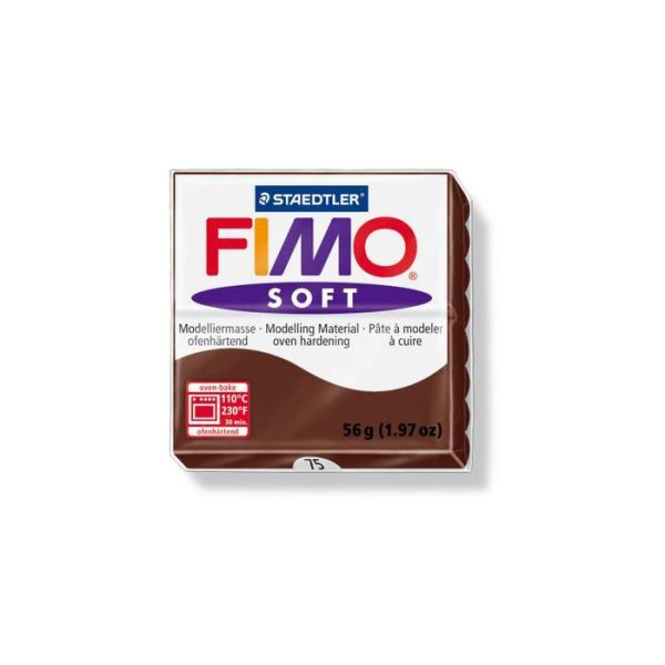 Fimo p te modeler soft cuire chocolat 57 g achat vente fimo 57802075 - Pate fimo a 1 ...