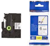 Brother TZ-FX221 Cassette à ruban adhésif puissant noir/blanc - 9mm x 8m