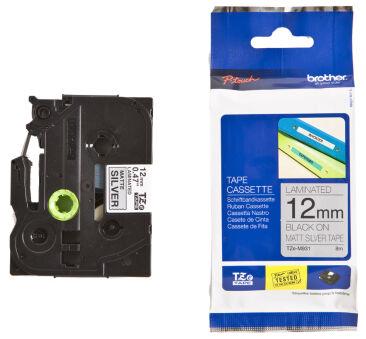 Brother TZ-741 Cassette à ruban noir/vert - 18mm x 8m