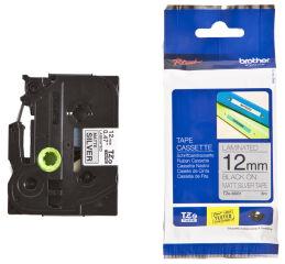 Brother TZ-555 Cassette à ruban blanc/bleu - 24mm x 8m