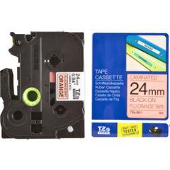 Brother TZ-B51 Cassette à ruban laminé fluorescent nor/orange - 24mm x 5m