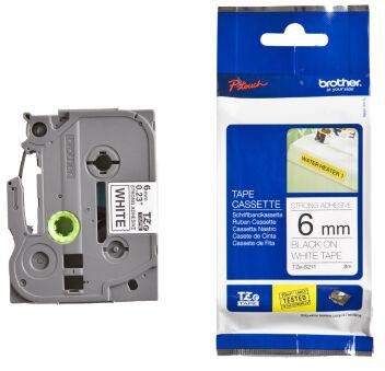 Brother TZ-S241 Cassette à ruban adhésif puissant noir/blanc - 18mm x 8m