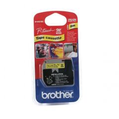 Brother M-K621 Cassette ruban noir/jaune - 9mm x 8m