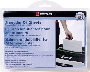 Feuilles lubrifiantes  de Destructeur de document - REXEL
