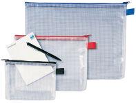 Sac à fermeture éclair Mesh Bags, A6, PVC, noir - REXEL