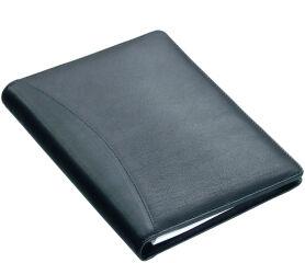 Alassio Serviette classeur 'BENACO', A5, cuir nappa, noir