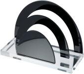 WEDO Trieur à courrier 'acrylique exclusif',transparent/noir