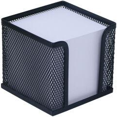 WEDO Bloc cube avec boîtier 'Office', fil métallique, noir