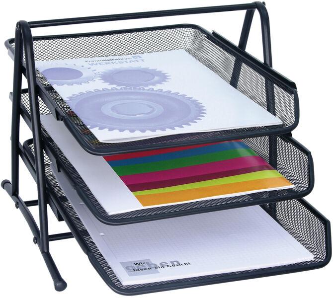 wedo corbeille courrier office 3 compartiments argent achat vente wedo 61021138. Black Bedroom Furniture Sets. Home Design Ideas