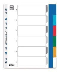 Intercalaires plastique - 6 positions - A4 XL - ELBA