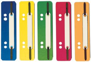 ELBA Relieurs à lamelle, PP, jaune, courts, 35 x 150 mm