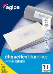 agipa Etiquette universelle, 38 x 21,2 mm, coins droits