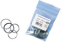 WEDO anneaux porte-clés en métal, contenu: 15 pièces en
