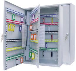 WEDO Armoire à clés pour 150 clés, dix barettes, gris clair
