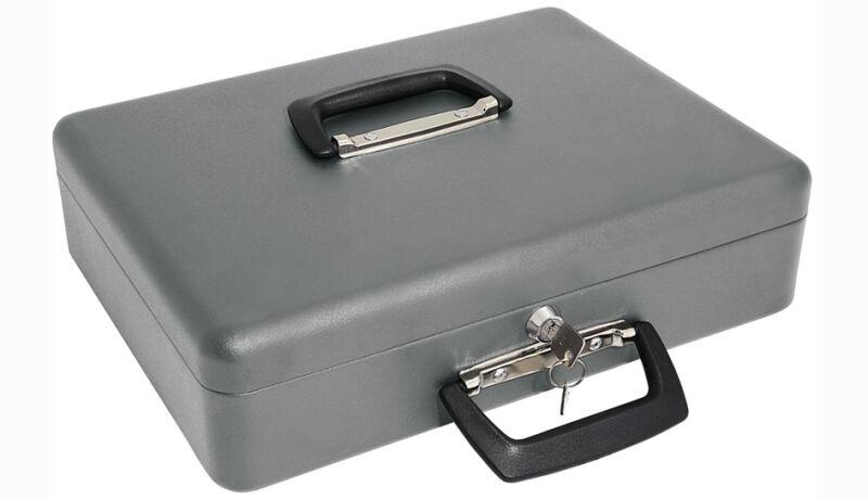 coffret caisse monnaie maxi gris en t le d 39 acier wedo achat vente wedo 62150666. Black Bedroom Furniture Sets. Home Design Ideas