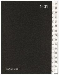 Trieur à soufflet, format A4, 1-31, noir - PAGNA