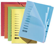 PAGNA Chemise de rangement, A4, PP, 6 compartiments, bleu