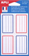 agipa Etiquettes pour livre, blanc/gris, 37 x 55 mm, lignées