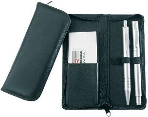 Alassio Etui pour stylos, pour 3 stylos, noir, en cuir