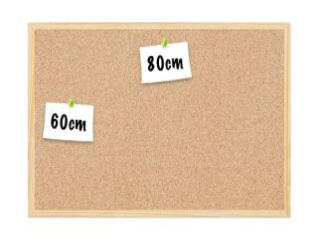 Tableau en liège 80x60 cm