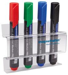 Porte-marqueur acrylique, pour 4 marqueurs - Magnetoplan