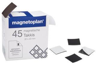 magnetoplan Takkis 30 x 20 mm, autocollant, noir